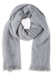 Ichi Bea Scarf Light Grey Melange Mottled Light Grey