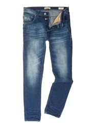 Blend Of America Light Wash Low Rise Jeans Blue