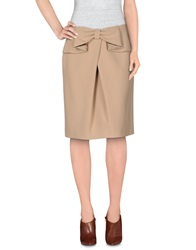 22 Maggio Knee Length Skirts Beige