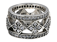 King Baby Studio Wide Band Ring W Mb Cross And Cz