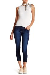 Just Usa Ankle Detail Crop Jean Blue