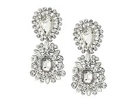 Nina 2 Part Crystal Cluster Hanging Earrings Rhodium Crystal Earring Silver
