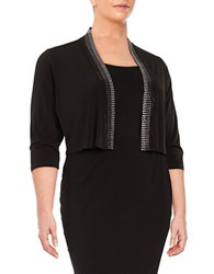 Calvin Klein Plus Embellished Open Front Cardigan Black