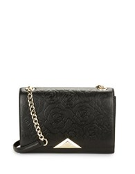 Karl Lagerfeld Gigi Pebbled Leather Shoulder Bag Black