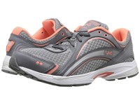 Ryka Sky Walk Iron Grey Frost Grey Fusion Coral Women's Walking Shoes Gray