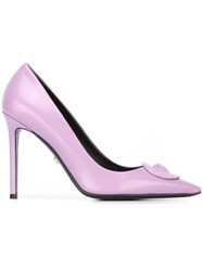 Versace 'Palazzo Medusa' Pumps Pink And Purple