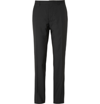 Burberry Black Relaxed Fit Wool Suit Trousers