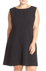 Tahari Plus Size Women's Sleeveless Double Woven Fit And Flare Dress