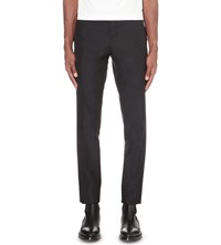 Thom Browne Cropped Wool And Mohair Blend Trousers Navy