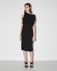 Maison Martin Margiela Asymmetrical Shift Dress Black
