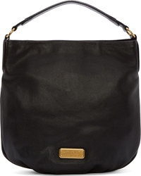 Marc By Marc Jacobs Black Grained Leather Hillier Hobo Bag