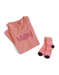 Life Is Good Mom Lace Sleep Dress And Sock Combo Tawny Peach