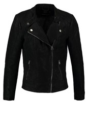 Only Onleffort Faux Leather Jacket Black
