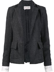 Greg Lauren Peaked Lapels Jacket Grey