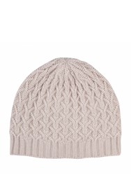 Johnstons Of Elgin Cashmere Quilted Texture Hat Neutral