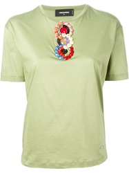 Dsquared2 Sequin T Shirt Green