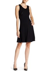 Anne Klein Rib Knit A Line Dress Black