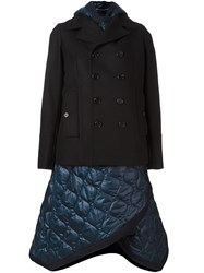 Diesel Black Gold Quilted Deconstructred Peacoat Blue
