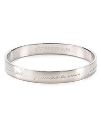 Kate Spade New York Bridesmaid Engraved Idiom Bangle Silver