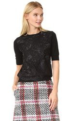 Carven Short Sleeve Sweater Black