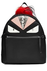 Fendi Backpack With Fox Fur Multicolor