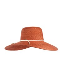 Eugenia Kim Amirah Straw Sun Hat Rust Red