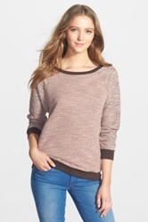 Kut From The Kloth 'Chantel' Zip Back Boatneck Sweater Beige