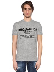 Dsquared Parachute Printed Cotton Jersey T Shirt