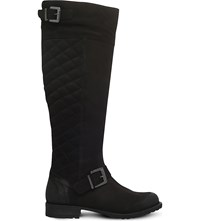 Miss Kg Warrick Quilted Suede Boots Black