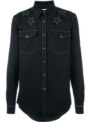Givenchy Star Stitch Denim Shirt Black