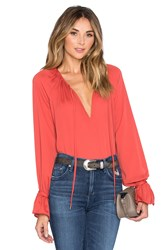 L'academie The Boho Blouse Rust