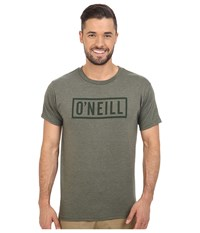 O'neill Block Short Sleeve Tee Heather Olive Men's T Shirt Gray