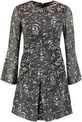 W118 By Walter Baker Jessie Printed Crepe Mini Dress Black