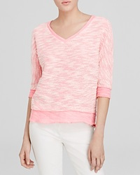 Kut From The Kloth Nancy Sweater Pink White