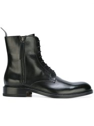Jil Sander Lace Up Military Boots Black