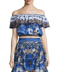 Camilla Off The Shoulder Midriff Frill Top Rhythm And Blues Rhythm And Blues