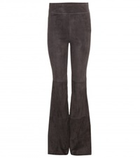 Dorothee Schumacher Flared Suede Trousers Grey