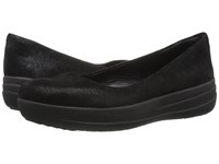 Fitflop F Sporty Ballerina Black Glimmer Women's Shoes