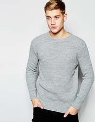 New Look Ribbed Jumper In Grey