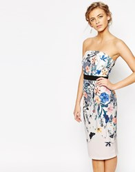Little Mistress Floral Pencil Dress Multi Floral