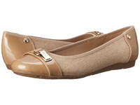Anne Klein Able Natural Multi Fabric Women's Slip On Shoes Beige