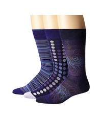 Bugatchi Pollock Orchid Men's Crew Cut Socks Shoes Purple