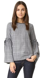Mother Of Pearl Alicia Houndstooth Blouse Prince Of Wales Check
