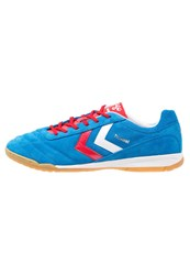 Hummel Celestial Dk2x Futsal Indoor Football Boots Brilliantblue Ribbon Red White