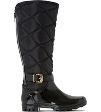 Dune Thunder Quilted Wellington Boots Black Synthetic