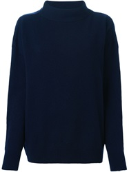 Marni High Standing Collar Sweater Blue