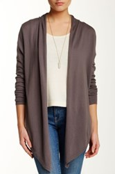 Lavand Woven Floral Print Back Cardigan Gray