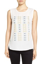 Nic Zoe Women's 'Arthouse' Embroidered Tank