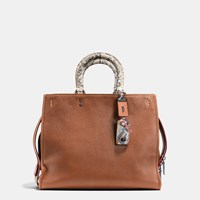 Coach Rogue Bag 36 In Colorblock Python Black Brown