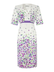 Shubette Meadow Print Dress And Jacket Lilac